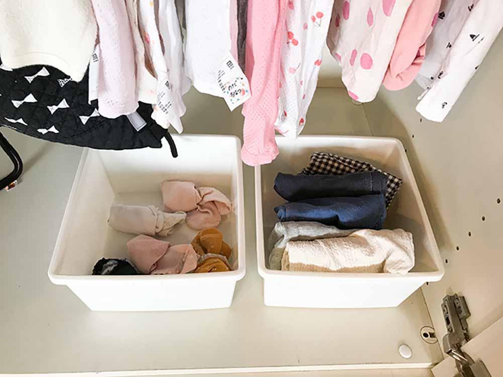 子どもの洋服収納を見直す。保育園に着ていく服