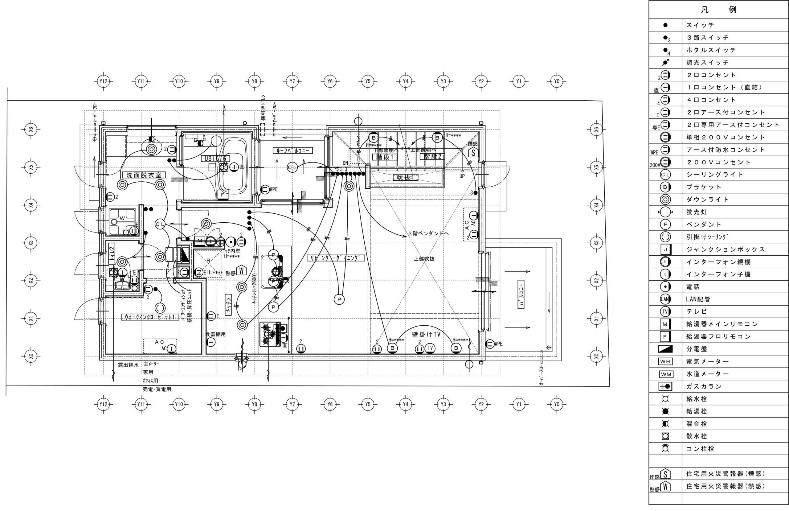 注文住宅の電気配線図とは?