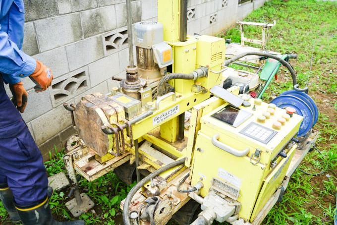 地盤調査で使用する機械