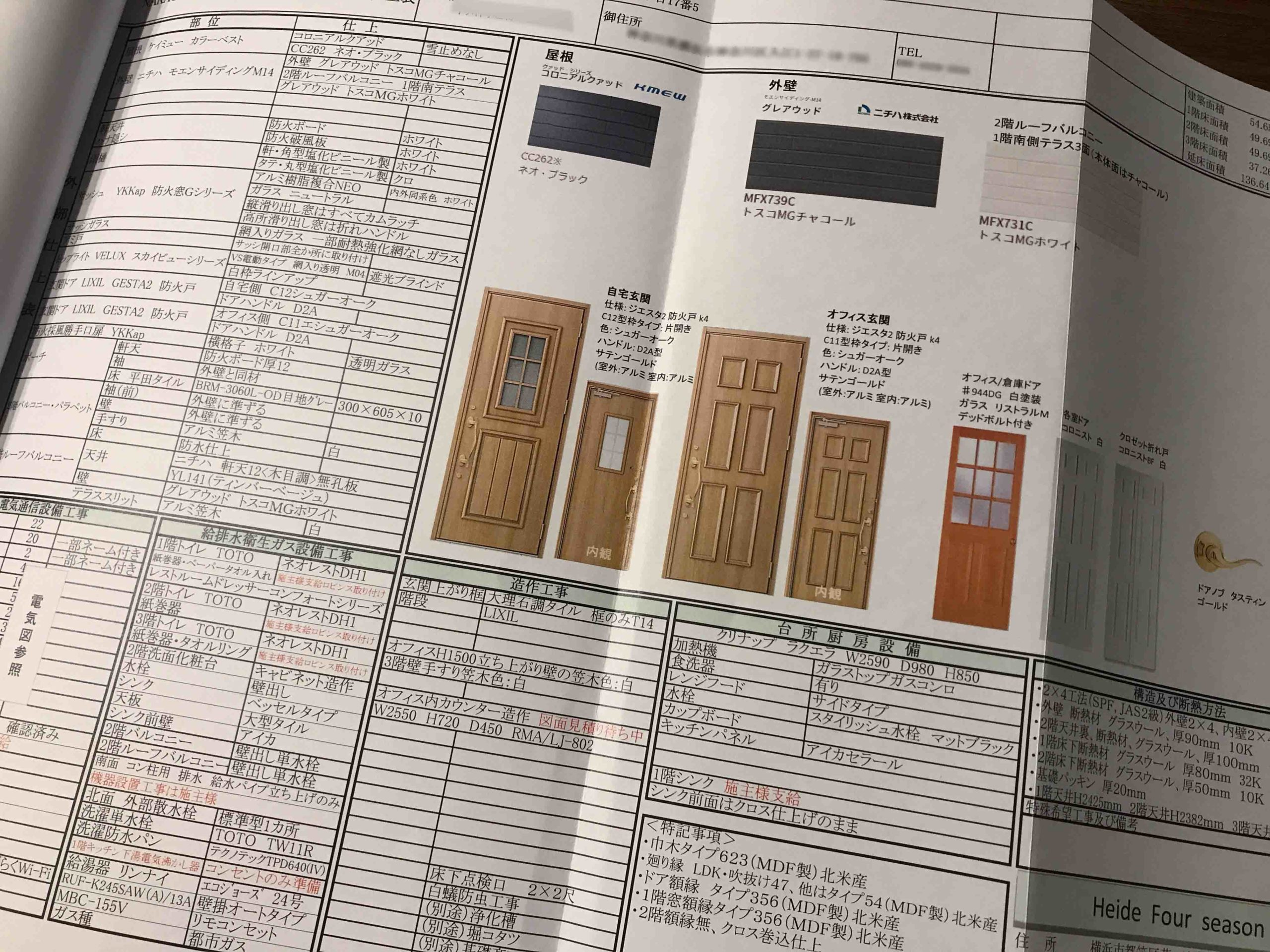 着工前打ち合わせに使う紙_ロビンスジャパンのブログ