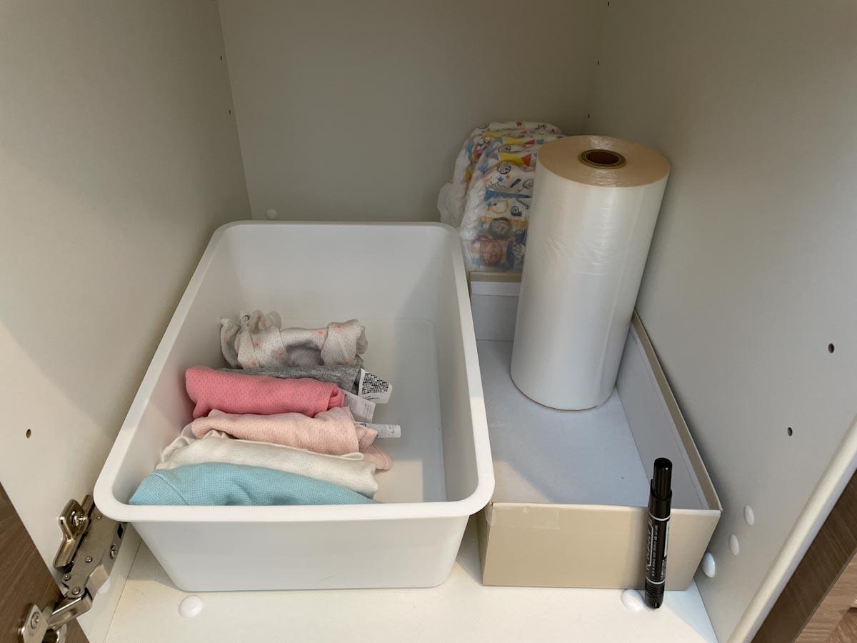 洗面所収納の下着やパジャマ