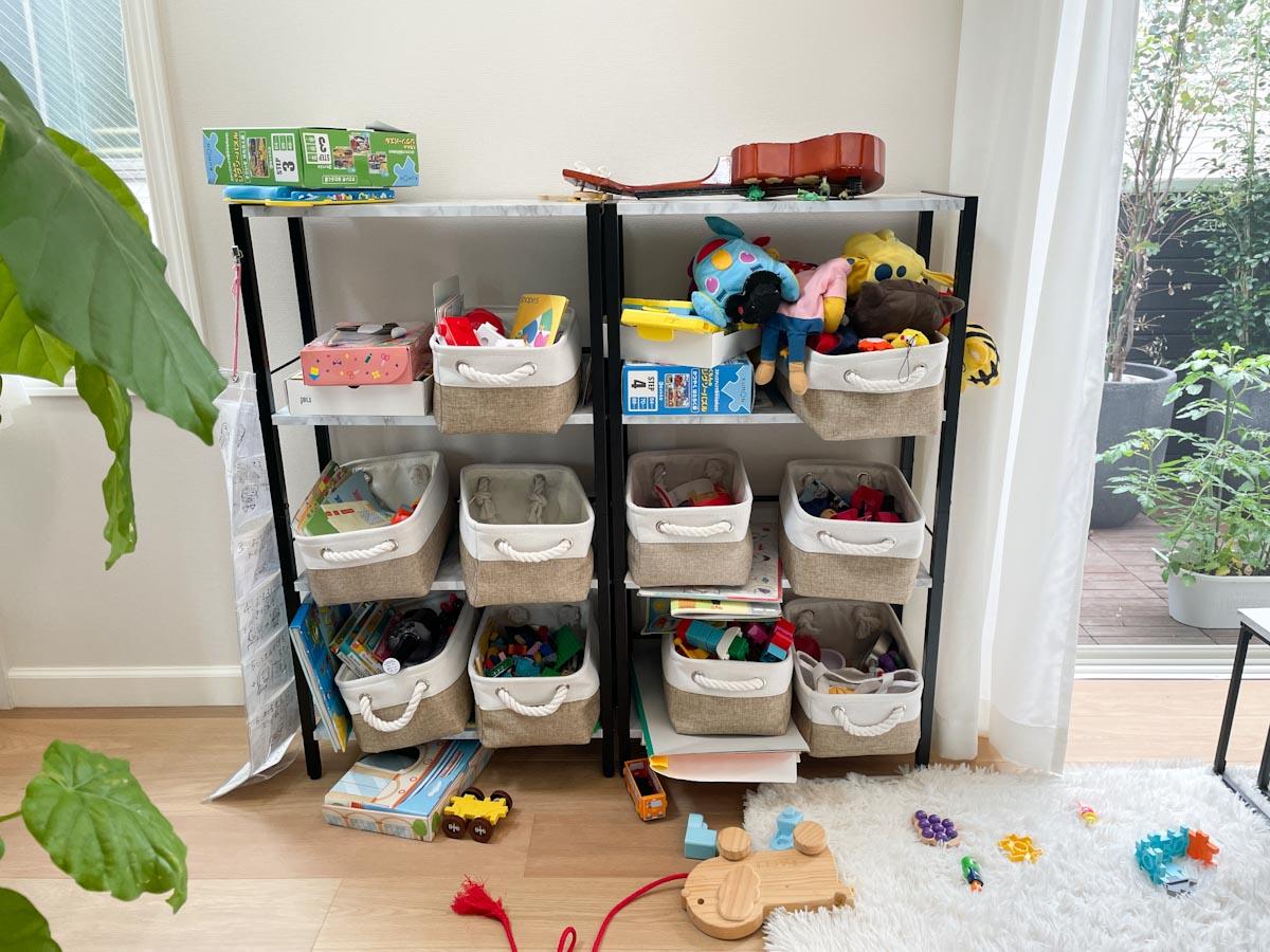 おもちゃ収納のビフォー